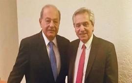 05/11/2019: Alberto Fernández dijo que Carlos Slim le expresó su