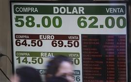 13/11/2019: El dólar sigue bajando y cerró en $62,75 pero el blue subió y cerró a $65,50