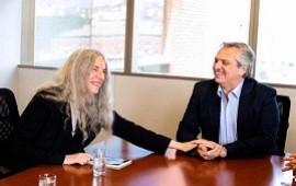 22/11/2019: Alberto Fernández recibió a la cantante y activista por el medio ambiente Patti Smith