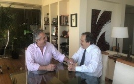 29/11/2019: Alberto Fernández recibió a Ricardo Alfonsín