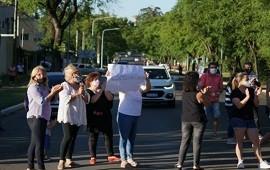 16/11/2020: Manifestación de vecinos reclamando seguridad en Eva Perón y De los Viñedos