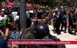 18/12/2017: Batalla campal en la marcha contra la reforma previsional