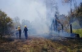 11/12/2018: Bomberos controlaron un incendio en una quinta de cítricos del norte entrerriano