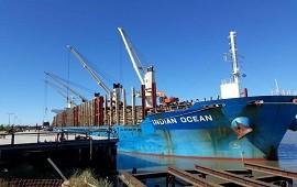 05/12/2019: Con destino a China, cargan 34.000 toneladas de madera de pino en el puerto de Ibicuy