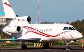 09/12/2019: Un avión privado de origen turco traslada a cinco pasajeros desde Venezuela hacia la Argentina