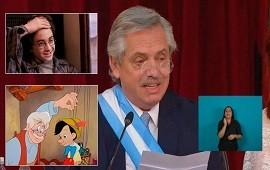 10/12/2019: Los memes del traspaso le apuntaron a los anteojos de Alberto Fernández: ¿Geppetto o Harry Potter?